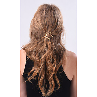 Women's Alloy Hair Clip Golden