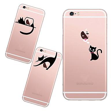 Capinha Para iPhone 6 iPhone 6 Plus Transparente Estampada Capa Traseira Brincadeira Com Logo da Apple Macia TPU para iPhone 6s Plus