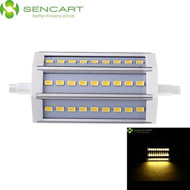 SENCART 800-900 lm R7S LED-schijnwerperlampen Verzonken ombouw 27 leds SMD 5730 Dimbaar Warm wit Koel wit AC 85-265V