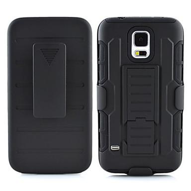 Недорогие Чехлы и кейсы для Galaxy S4 Mini-Кейс для Назначение SSamsung Galaxy S7 edge / S7 / S6 edge plus Защита от удара / со стендом Кейс на заднюю панель броня ПК