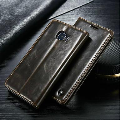 hoesje Voor Samsung Galaxy Samsung Galaxy hoesje Kaarthouder Portemonnee met standaard Flip Volledig hoesje Effen Kleur aitoa nahkaa voor