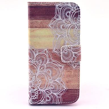 Capinha Para iPhone 6 iPhone 6 Plus Porta-Cartão Com Suporte Flip Estampada Corpo Inteiro Mandala Rígida Couro Ecológico para iPhone 6s