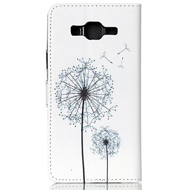 Para Samsung Galaxy Capinhas Porta-Cartão / Carteira / Com Suporte / Flip / Estampada Capinha Corpo Inteiro Capinha Dente de Leão Couro PU
