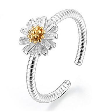Anéis Ajustável Pesta / Diário / Casual Jóias Prata de Lei Feminino Anéis Grossos 1conjunto,Ajustável