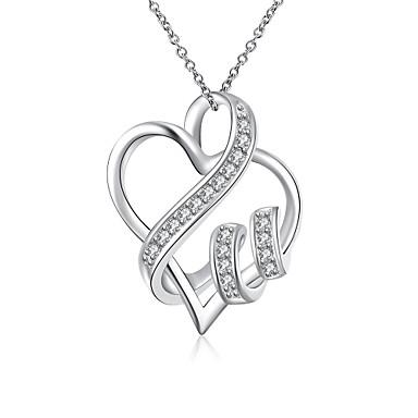 Női Személyre szabott Szerelem Divat Rövid nyakláncok Nyaklánc medálok Nyilatkozat nyakláncok Ezüst Rövid nyakláncok Nyaklánc medálok