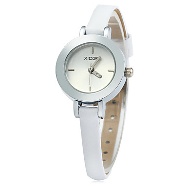 Dames Modieus horloge Kwarts Hot Sale Leer Band Amulet Wit Bruin