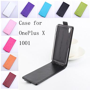 Voor OnePlus hoesje Flip / Magnetisch hoesje Volledige behuizing hoesje Effen kleur Hard PU-leer One Plus