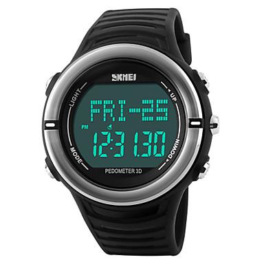 Homens Relógio Esportivo Relógio de Pulso Digital LED Calendário Cronógrafo Impermeável alarme Monitor de Batimento Cardíaco Relógio