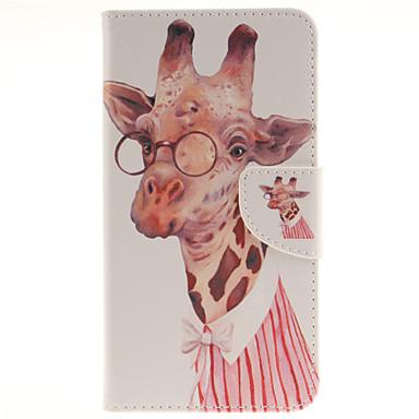 Para Capinha LG Porta-Cartão / Carteira / Com Suporte / Flip Capinha Corpo Inteiro Capinha Animal Rígida Couro PU LG LG G4