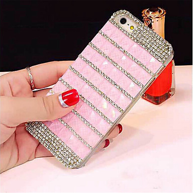 Voor iPhone 6 hoesje / iPhone 6 Plus hoesje Strass hoesje Achterkantje hoesje Lijnen / golven Hard PC iPhone 6s Plus/6 Plus / iPhone 6s/6