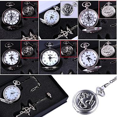 Klok/Horloge geinspireerd door Fullmetal Alchemist Edward Elric Anime Cosplay Accessoires Kettingen / Klok/Horloge / Ring Zwart / Zilver