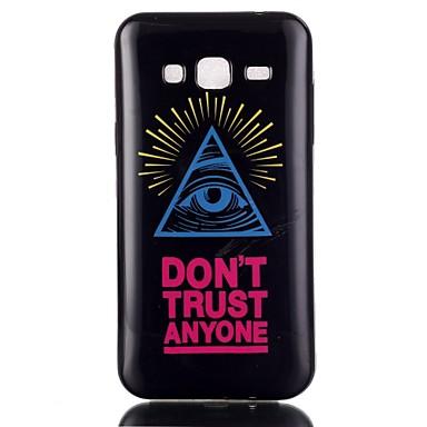 Para Samsung Galaxy Capinhas Case Tampa Estampada Capa Traseira Capinha Palavra / Frase PUT para Samsung Galaxy On 7 On 5 J3