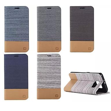 Недорогие Чехлы и кейсы для Galaxy S6-Кейс для Назначение SSamsung Galaxy S6 edge plus / S6 edge / S6 Кошелек / Бумажник для карт / со стендом Чехол Полосы / волосы Кожа PU