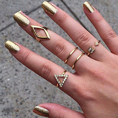 Europese stijl mode metalen wilde persoonlijkheid ring set elegante stijl
