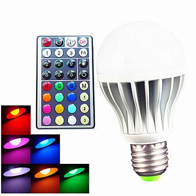 550 lm B22 E26/E27 Lâmpada Redonda LED A60(A19) 3 leds LED de Alta Potência Regulável Controle Remoto Decorativa RGB AC 100-240V