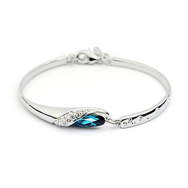 Dames Bedelarmbanden Kristal Verzilverd Blauw Sieraden Voor Feest Dagelijks Causaal 1 stuks