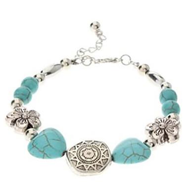 Heren Verzilverd Turkoois Vintage Armbanden - Blauw Armbanden Voor Feest Dagelijks Causaal