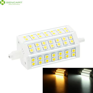 10W R7S Focos de LED Encaixe Embutido 42 SMD 5060 800-1000 lm Branco Quente / Branco Frio Regulável AC 85-265 V 1 pç