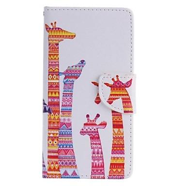 kleur giraffe geschilderd pu telefoon geval voor huawei p8 lite / p8 gevallen / covers voor Huawei