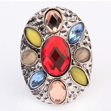 Anéis Casamento / Pesta / Diário / Casual Jóias Cristal / Liga Feminino Anéis Meio Dedo 1pç,Ajustável Dourado / Prateado