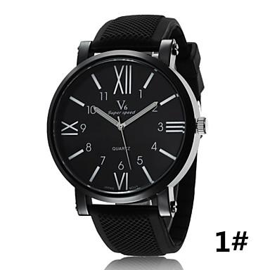 Masculino Relógio Esportivo Relógio de Pulso Quartzo Borracha Banda Preta # 1 # 2 # 3 # 4