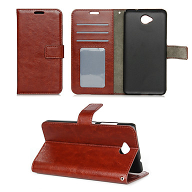 케이스 제품 그외 Nokia 노키아 루미아 850 노키아 케이스 지갑 카드 홀더 스탠드 풀 바디 한 색상 하드 PU 가죽 용