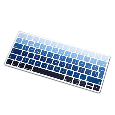arco-íris idioma espanhol tampa gradiente ultra fino de silicone pele teclado para teclado magia 2,015 versão de layout da UE