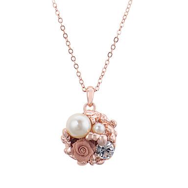 Dames Kristal Hangertjes ketting / Parelketting  -  Parel, Gesimuleerde diamant Kettingen Voor Feest