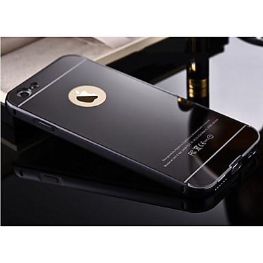 voordelige iPhone-hoesjes-hoesje voor apple iphone xr xs xs max plating / spiegel achterkant effen gekleurde hard metaal voor iphone x 8 8 plus 7 7 plus 6s 6s plus se 5 5s