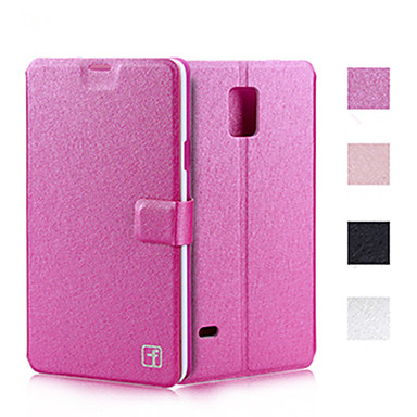 Недорогие Чехлы и кейсы для Galaxy Note 3-Кейс для Назначение SSamsung Galaxy Note 5 / Note 4 / Note 3 Бумажник для карт / со стендом / Флип Чехол Однотонный Кожа PU