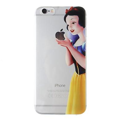 o conto de fadas Branca de Neve 3d padrão TPU Capa para iPhone 6s 6 mais