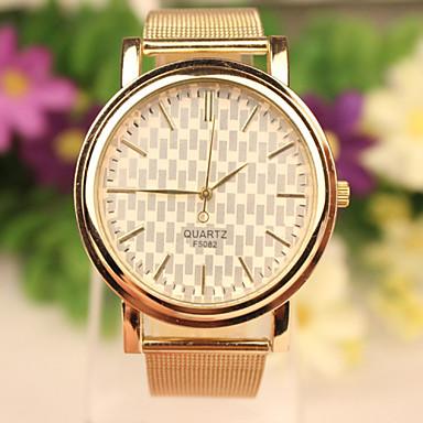 Mulheres Relógio de Moda Bracele Relógio Relógio Casual Quartzo Aço Inoxidável Banda Dourada