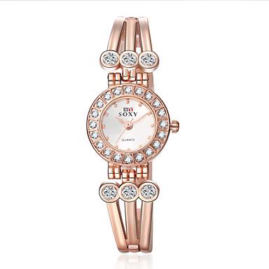 아가씨들 패션 시계 팔찌 시계 손목 시계 석영 합금 밴드 꽃패턴 우아한 골드