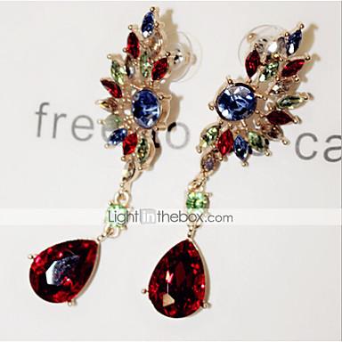 Dames Druppel oorbellen Synthetische Edelstenen Kubieke Zirkonia Gesimuleerde diamant Legering Wings Sieraden Voor