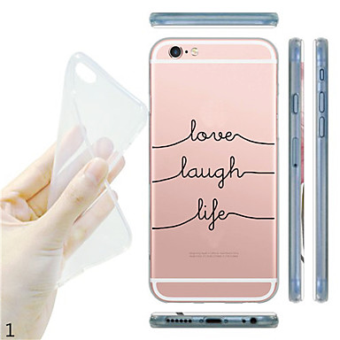 Case For iPhone 7 Plus iPhone 7 iPhone 5 Apple iPhone 5 Case Transparent Pattern Back Cover Cartoon Soft TPU for iPhone 7 Plus iPhone 7