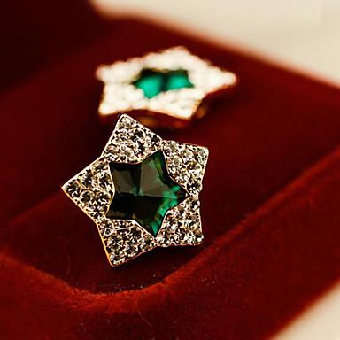 Oorknopjes Kristal Legering Groen Blauw Sieraden Voor Bruiloft Feest Dagelijks Causaal 1 stuks