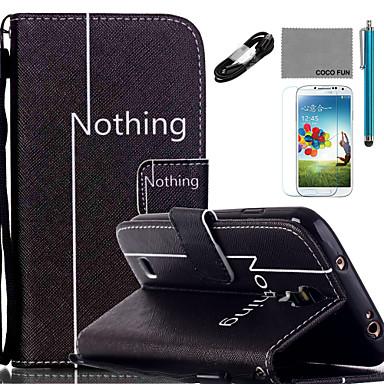hoesje Voor Samsung Galaxy Kaarthouder Portemonnee met standaard Flip Patroon Volledig hoesje Woord / tekst Hard PU-nahka voor S5 Mini S5
