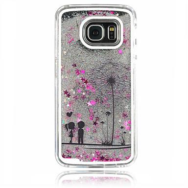 Para Samsung Galaxy Capinhas Liquido Flutuante Capinha Capa Traseira Capinha Dente de Leão PC Samsung S6 edge / S6 / S5 / S4