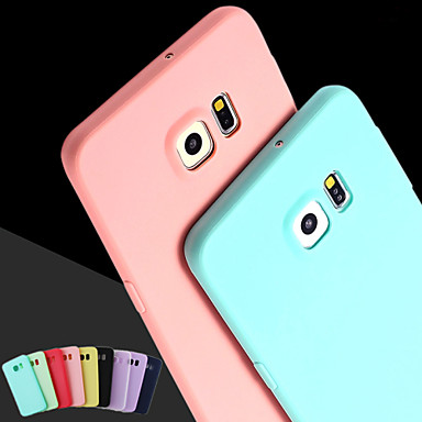 Case For Samsung Galaxy Samsung Galaxy Case Back Cover Solid Colored Silicone for S6 edge plus / S6 edge / S6