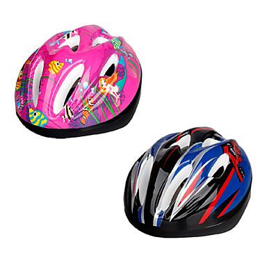 Capacete (Rosa / Azul , EPS / PVC) - Montanha / Estrada / Esportes - Crianças 9 AberturasCiclismo / Ciclismo de Estrada / Ciclismo de
