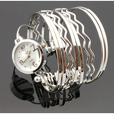 Mulheres Relógio de Moda Bracele Relógio Quartzo Lega Banda Prata Dourada Prata Dourado