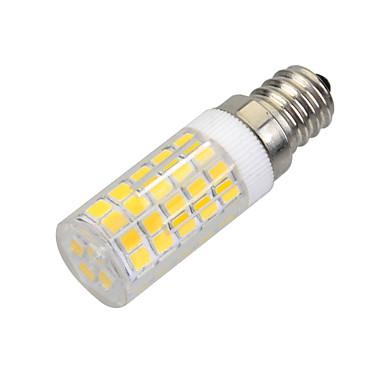 E14 LED-maïslampen B 64 LEDs SMD 2835 Decoratief Warm wit 400-500lm 3000-3500K AC 220-240V