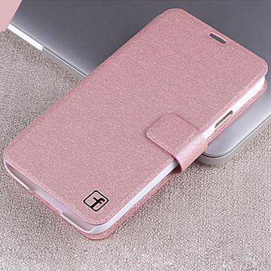 Para Samsung Galaxy Capinhas Porta-Cartão / Com Suporte / Flip Capinha Corpo Inteiro Capinha Cor Única Couro PU Samsung S4