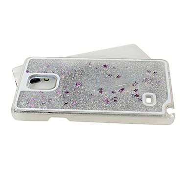 Para Samsung Galaxy Capinhas Liquido Flutuante Capinha Capa Traseira Capinha Brilho com Glitter PC Samsung S5
