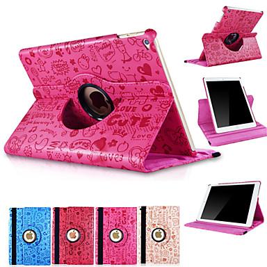 hoesje Voor iPad Air 2 met standaard Automatisch aan / uit Origami 360° rotatie Volledig hoesje Tegel PU-nahka voor iPad Air 2