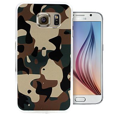 Para Samsung Galaxy Capinhas Estampada Capinha Capa Traseira Capinha Côr Camuflagem PC Samsung S6 edge / S6