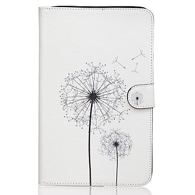 Para Samsung Galaxy Capinhas Case Tampa Carteira Porta-Cartão Com Suporte Flip Estampada Corpo Inteiro Capinha dandelion Couro Ecológico