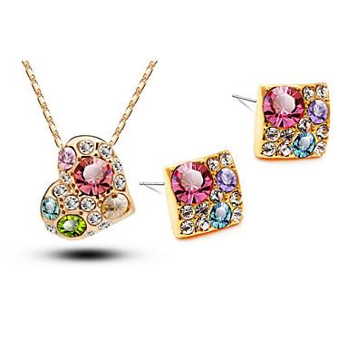 Mulheres Cristal Conjunto de jóias Brincos Colares - # 1 # 2 # 3 Para Casamento Festa Aniversário Noivado Presente Diário Casual