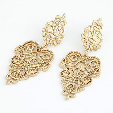 Druppel oorbellen Kristal Modieus Europees Parel Imitatieparel Strass 18K goud imitatie Diamond Oostenrijk Crystal Legering Goud Sieraden