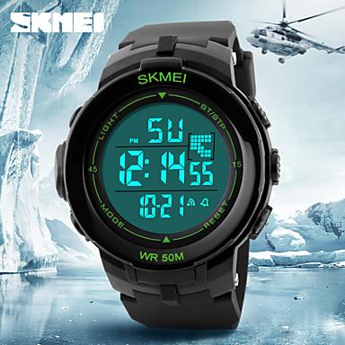 Heren Digitaal horloge Polshorloge Digitaal Alarm Kalender Chronograaf Waterbestendig LCD Rubber Band Zwart